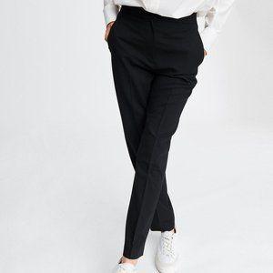 RAG & BONE Poppy Pleated High Rise Black Wool Pant